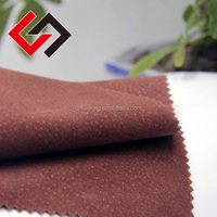 poly textile fabric double side embossed flocking for shoes