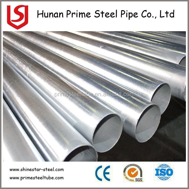 China Exporter Astm A53 Galvanized Erw Fluid Steel Pipe/Welded pipe
