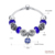 Hot Sell Fashion Glass Beaded design female blue Crystal ball charm Glow bracelets