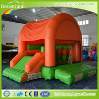 Attractive orange inflatable castle , mini jumper bouncer, small jumping castle for sale