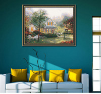 Digital natural scenery wall picture oil painting for sale