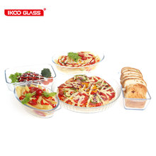 Glass thermal shock 140degree glass pizza pan
