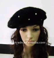 Beret without Eaves, with REVETS, Customized Designs are Accepted