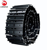 factory excavator parts Triple grouser track plates ass'y for the PC220 PC230 DH220 R2252-7 EX200