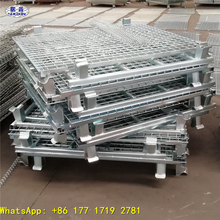 Shuxin Manufactory Rolling mesh box wire cage metal bin storage container for PET Preform