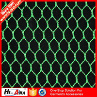 hi-ana fabric1 Know different market style Fashion garment big hole mesh fabric