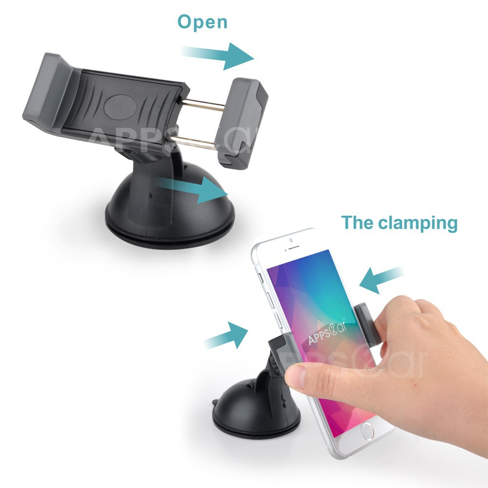 APPS2CAR Smartphone Holder,Universal Car Phone Holder Fits For Most Big Screen Smartphone