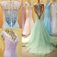 RP40210 Deep V neckline beaded sheer back bra evening dress evening dresses for pregnant women women african evening dresses