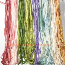 100% pure hand dyed sari silk ribbon embroidery designs