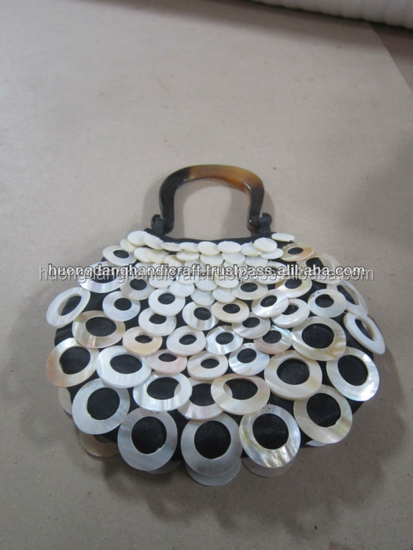 High Quality Ladies' Fashion seashell Handbag, 100% handmade, hot selling from Vietnamese wholesale manufacturer