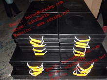 UV crane jack pad/ wear and durable hdpe crane outrigger pad/ truck utilities