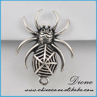 Eco-friendly material spider shape metal charms and pendants