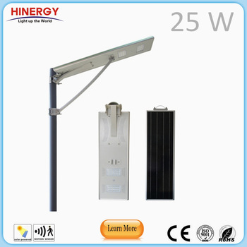 solar cell led lamp 15W 20Wp 25Watt solar street light zhongshan
