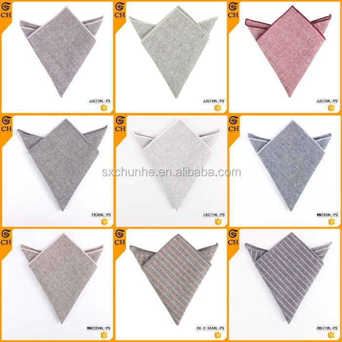 Custom Brand Plain White Cotton Handkerchiefs for Wholesale