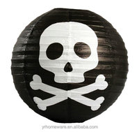 Halloween decoration skeleton round paper lantern