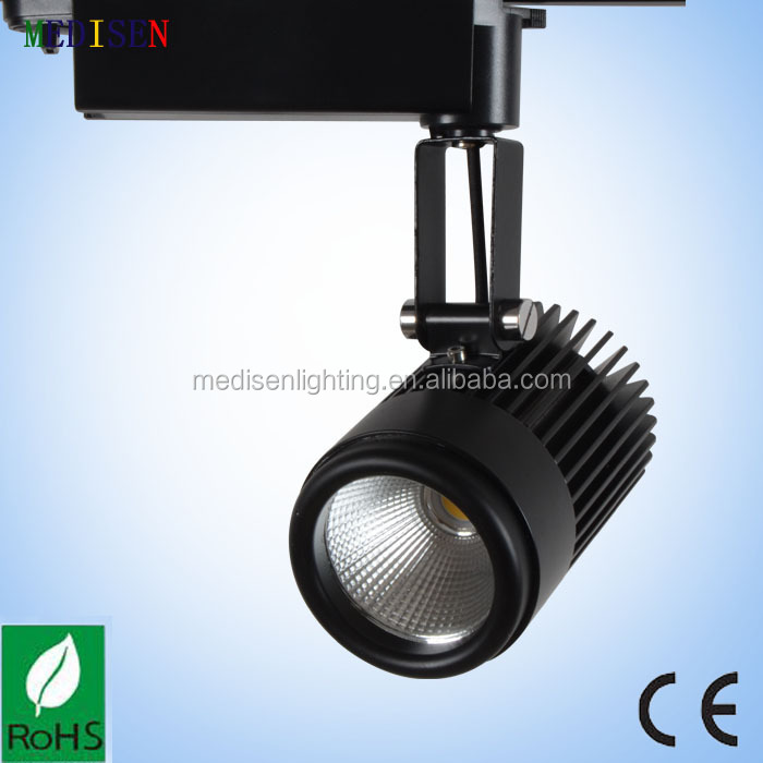 Aluminium lamp body with heatsink 20w cob led lights track system with 40degree