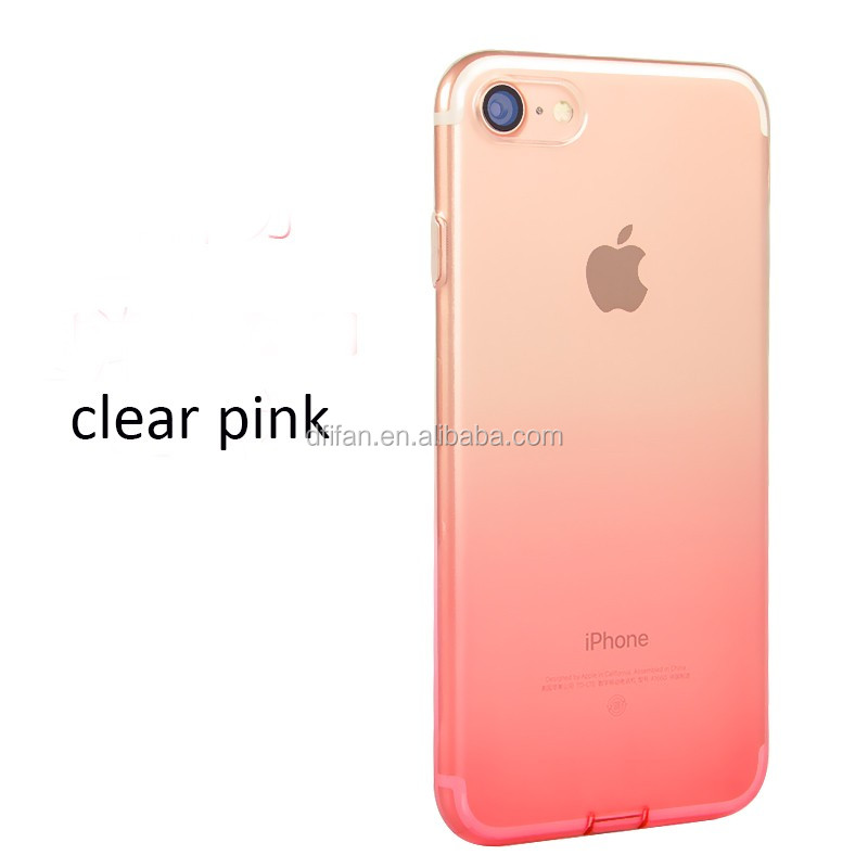 For iphone 6 6s 6plus 6s plus Case, for Apple iphone 6 6s dustproof Clear changing color TPU Phone Case for iphone 7 7plus