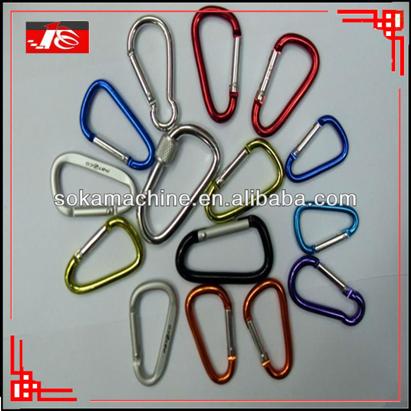 advertisement gift print carabiner hook with key rings