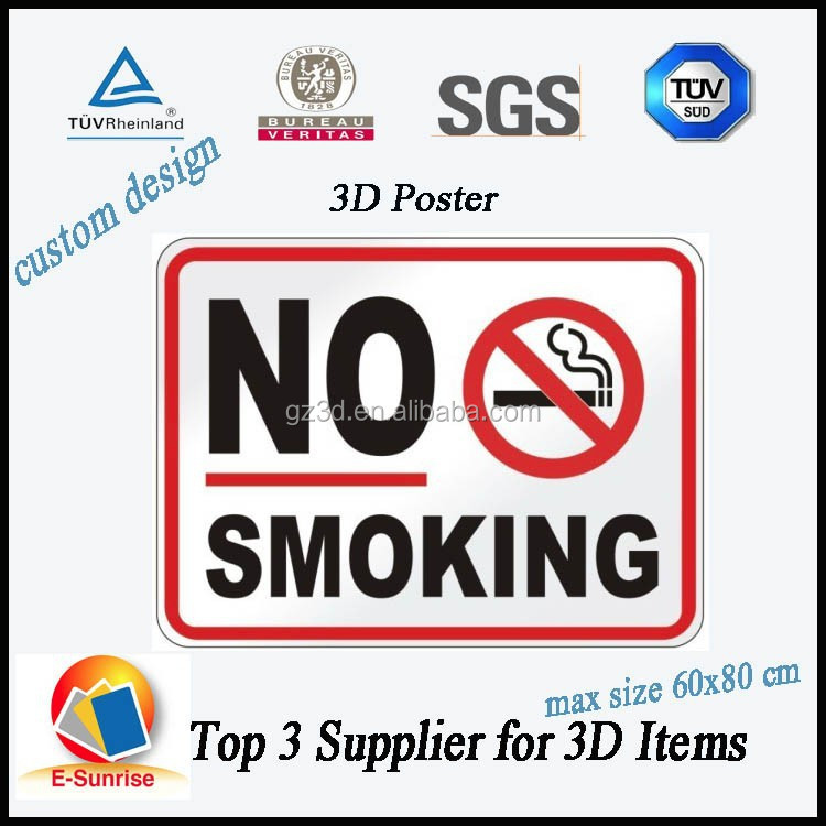 advertising 3d picture/NO Smoking posters/3d hologram advertising poster
