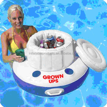 Water Party Inflatable Ice Bucket Cooler Floats Inflatable Ice Beer Bottle Cooler Stick