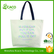 Factory price custom recyclable shopping cotton canvas tote bag for women