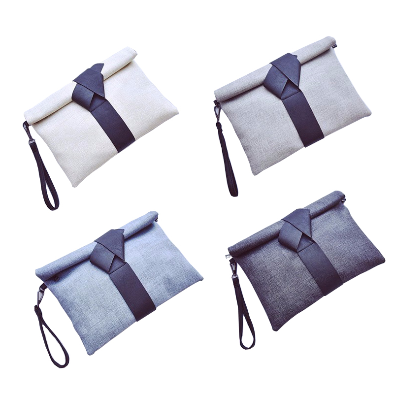 Retro Fashion Women's Canvas Clutch Bag Pouch