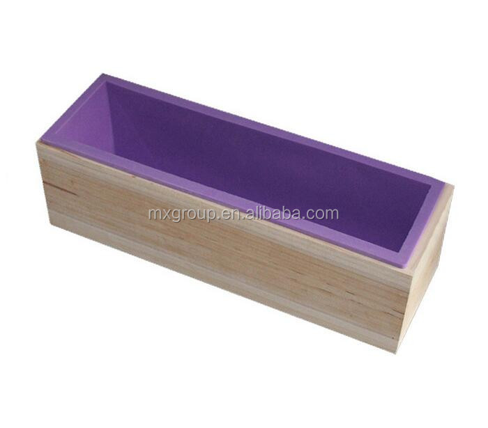 Rectangular Soap Silicone Loaf Mold Wood Box for 42oz Soap Making Supplies UK square silicone loaf soap molds