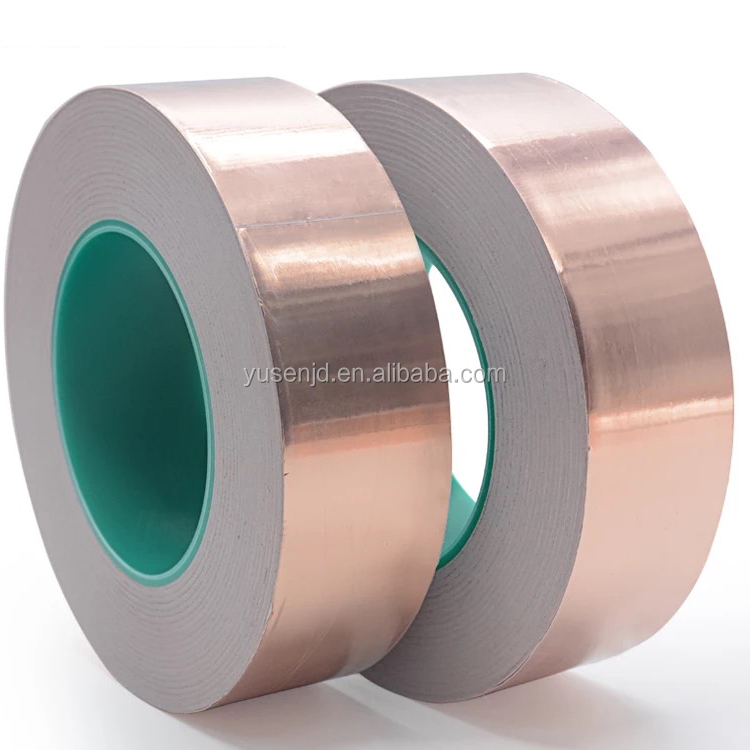 self adhesive electrically conductive Copper Snail Tape earthing with Acrylic Adhesive