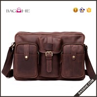 high quality mens blank leather wholesale messenger bag