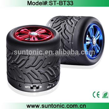 Hotselling tire shape water resistant bluetooth speaker