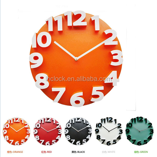 modern design round 3D wall clock