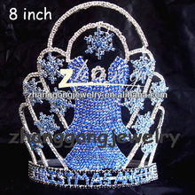 Beauty snow design large tall diamond pageant Crowns for sale