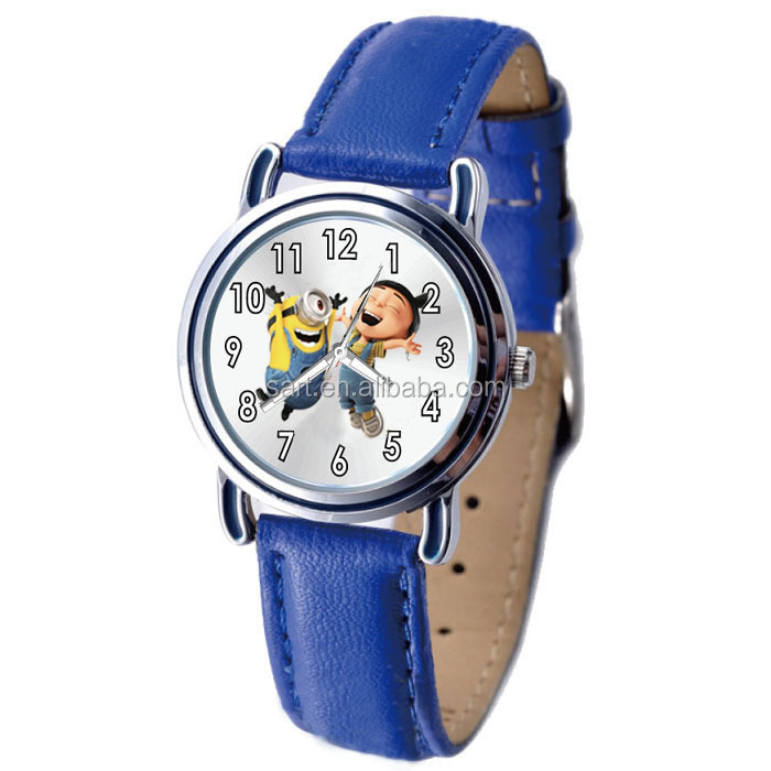 New Arrival PU Strap Analogue Despicable Me Watch as Best Gift