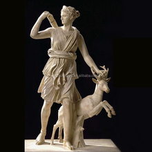Stone Roman mythology character famous marble Diana goddess of hunt statue