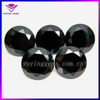 Good quality cheap price round black gemstones price list