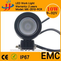 China top selling Factory price spot/flood ip67 car led spot light 12v led light 10w led motorcycle lights