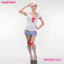 Hot Sale Adult White Soldier Navy Dress Sex Cosplay Costume For Women