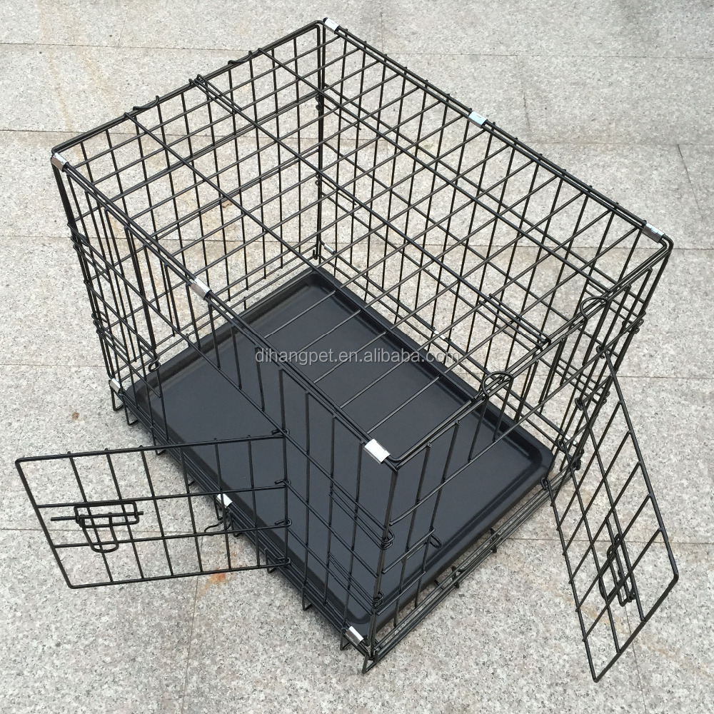 new design foldable two door large dog crate wholesale