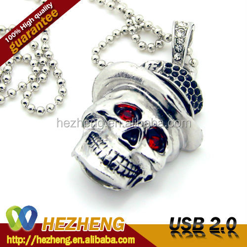 Crystal USB Disk Cool 16GB Skull USB Memory Cards 2.0 Customized Bulk items