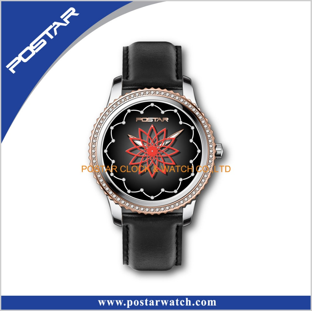 Swatchful Ladies Generous Wrist Watch with Genuine Leather Band