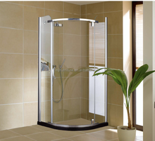 2015 new design curved sliding glass shower enclosure