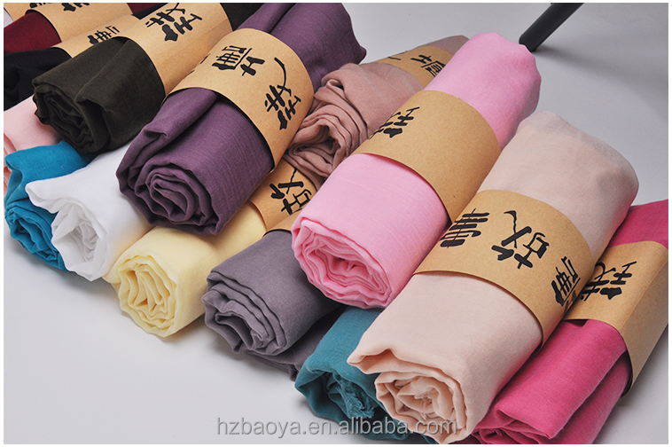 24 colors 100% polyester very sofy plain cheap scarf