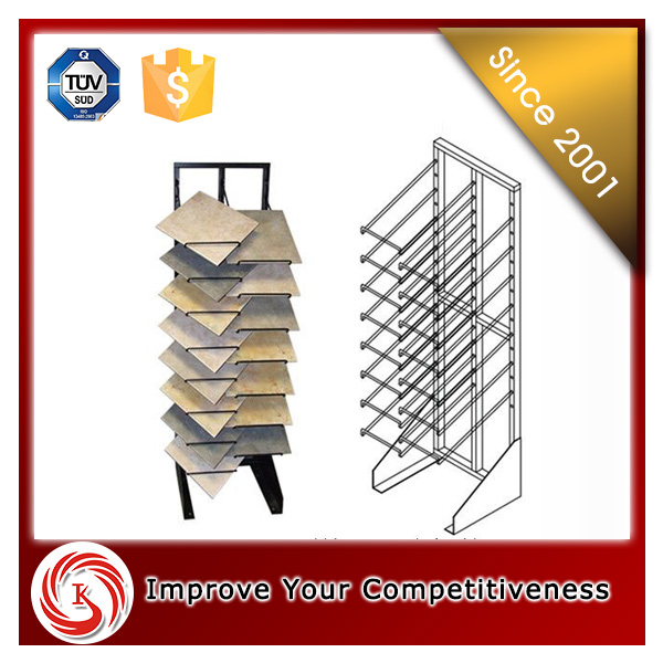 metal holder floor ceramic tile display stand for tile showroom display