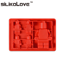Factory Direct Price Reusable 5 Robots Large Silicone Personalized Ice Cube Tray