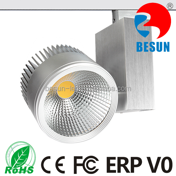 BESUN five years warranty 2/3/4 circuits dimmable commercial led cob track light 30W