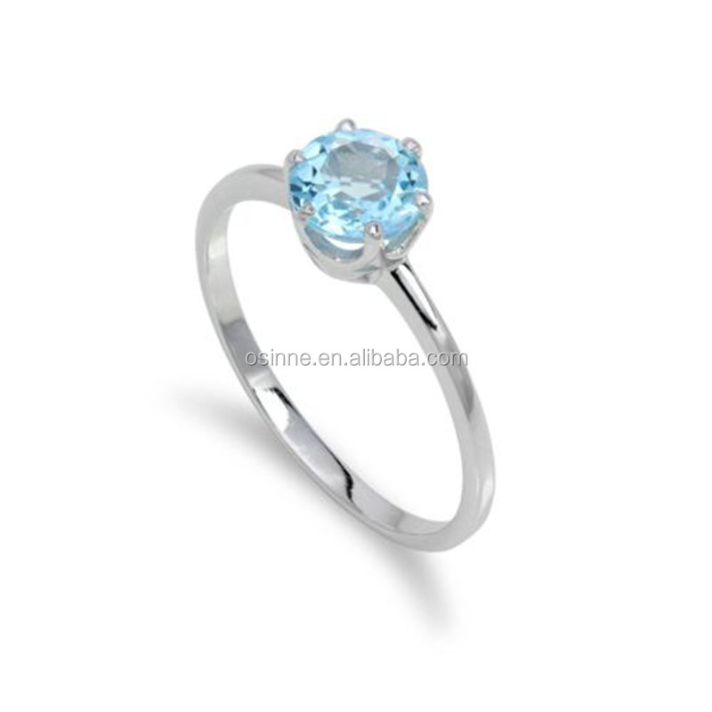 Hot Sale White Gold Plated 925 Sterling Silver Ring Jewelry OSSR0405