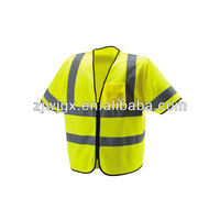100 Polyester Short Sleeves Security Protection
