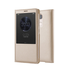 Luxury Smart Flip Case window leather phone case For Huawei Mate 9
