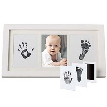 baby handprint photo frame lovely Baby Handprint Kit Footprint Clay pictures frame