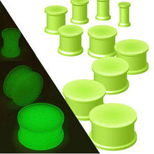glow in the dark silicone plug piercings ring-615